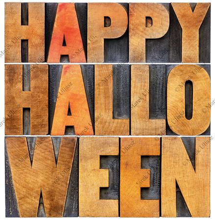Happy Halloween word abstract