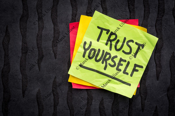 trust yourself reminder note