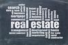 real estate word cloud on blackboard
