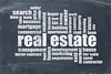 real estate word cloud on blackboard