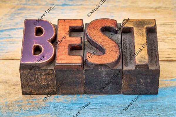best word in vintage wood type