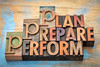 plan, prepare, perform word abstract