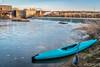 kayak and river diversion dam