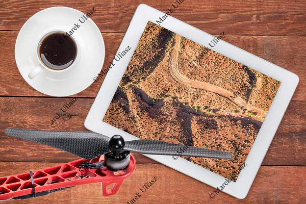 aerial desert landscape