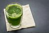 glass of fresh green juice