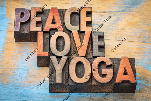 peace, love and yoga