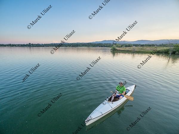 operating drone from canoe
