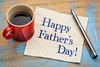 happy father day on napkin