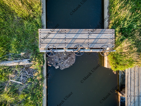 irrigation ditch aerial view