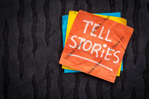 tell stories reminder note