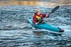 senior male paddler kayaking