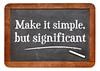Make it simple - blackboard