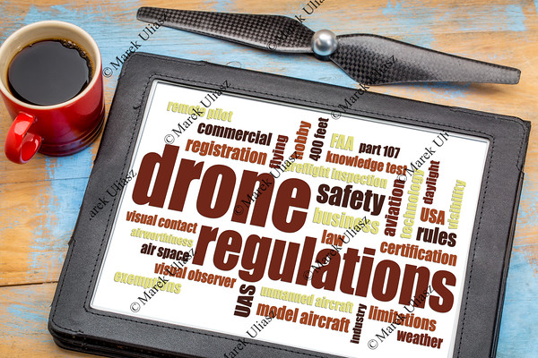 drone regulations word cloud