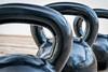 heavy iron kettlebels abstract