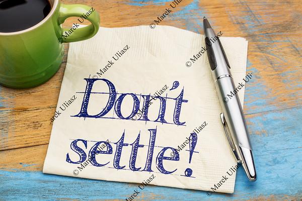Do not settle reminder