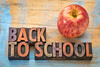 back to school sign in wood type