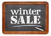 winter sale blackboard sign