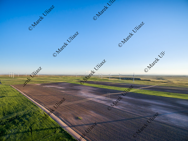 farmland in eastern Colorado aerial view