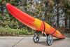 river kayak on a cart