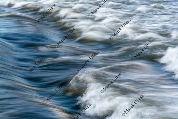 river rapid abstract