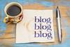 blogging concept on a napkin