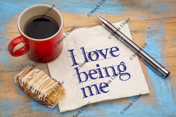I love being me - napkin
