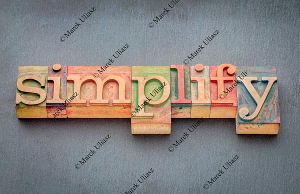 simplify word in wood type