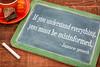 Japanese proverb on blackboard