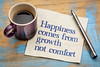 Happiness comes from growth