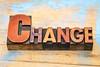 change word in letterpress wood type
