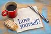 Love yourself advice on napkin