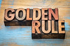 golden rule word abstract