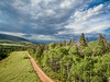 Colorado backcountry road aerial view