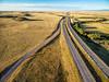freeway in Colorado prairie