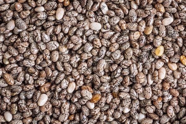 chia seeds life-size macro
