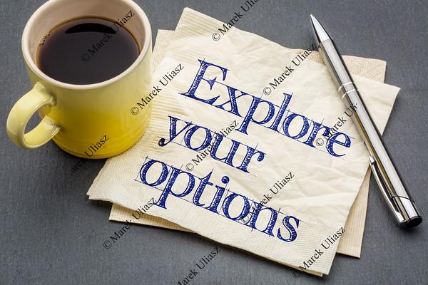 Explore your options on napkin