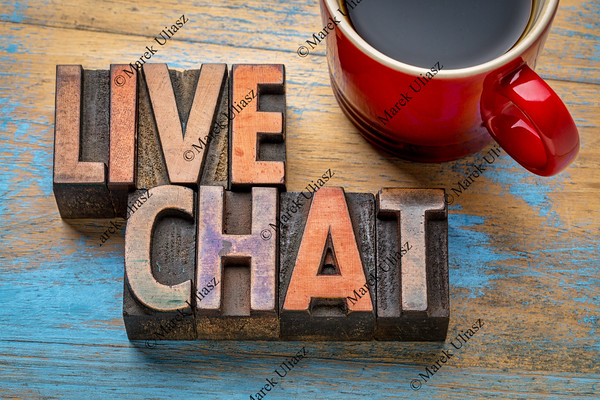 live chat word abstract