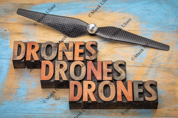 drones word abstract