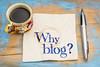 Why blog question on napkin