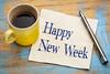 Happy New Week on napkin