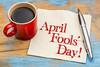 April Fools Day - napkin handwriting