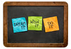 dream, wish and do it on sticky notes