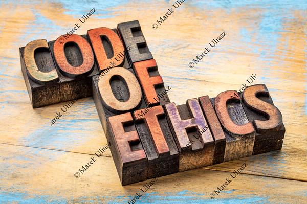 code of ethics bannert in wood type
