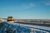Snowplow truck at Colorado foothills