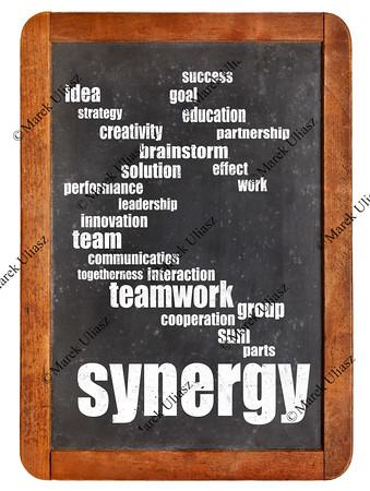 synergy word cloud on blackboard