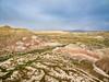 Utah badlands aerial view