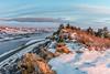 winter sunrise over Horsetooth Reservoir