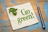 Go green message on napkin