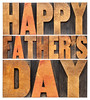 happy father day in wood type