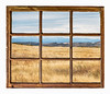 prairie at Colorado foothills abstract